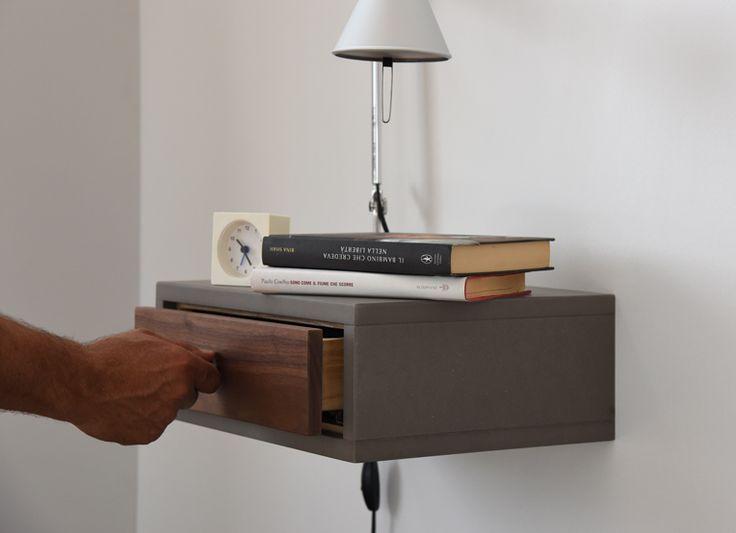 Modern Floating Nightstand Console Shelving by Ebanisteria Cavallaro