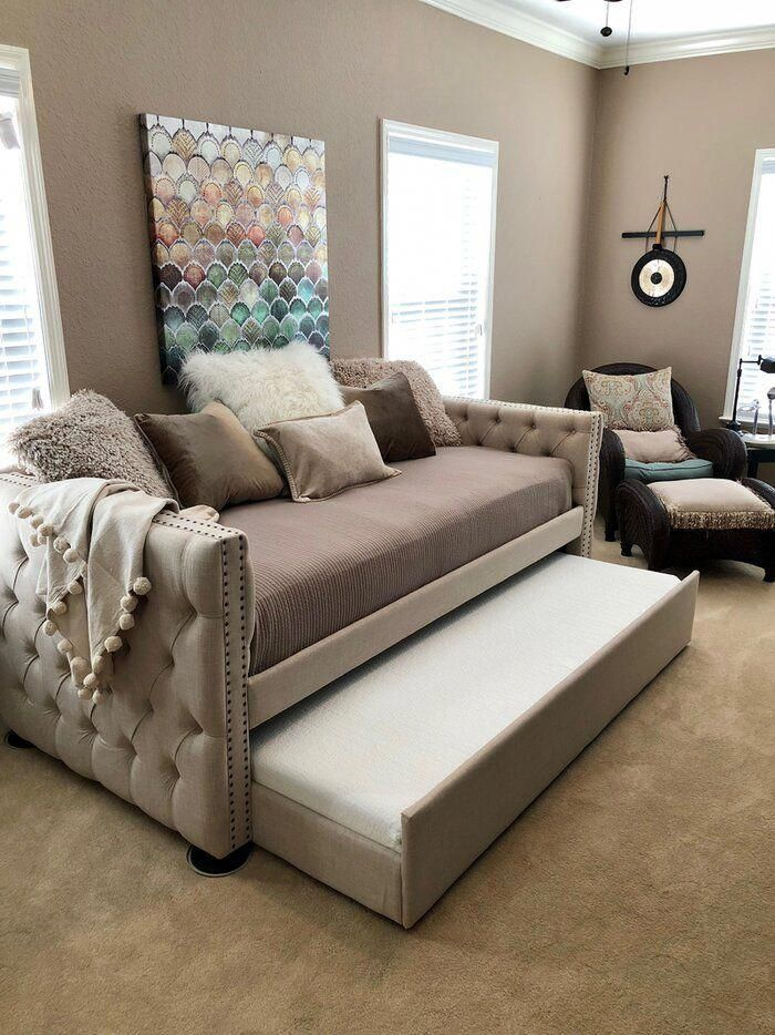 This Might Appeal To Your Interest Bedroom Furniture Rustic In 2020 Guest Room Office Combo Daybed Room Daybed With Trundle