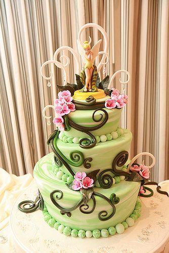 Tinkerbell cake for Grayce's 1st Birthday