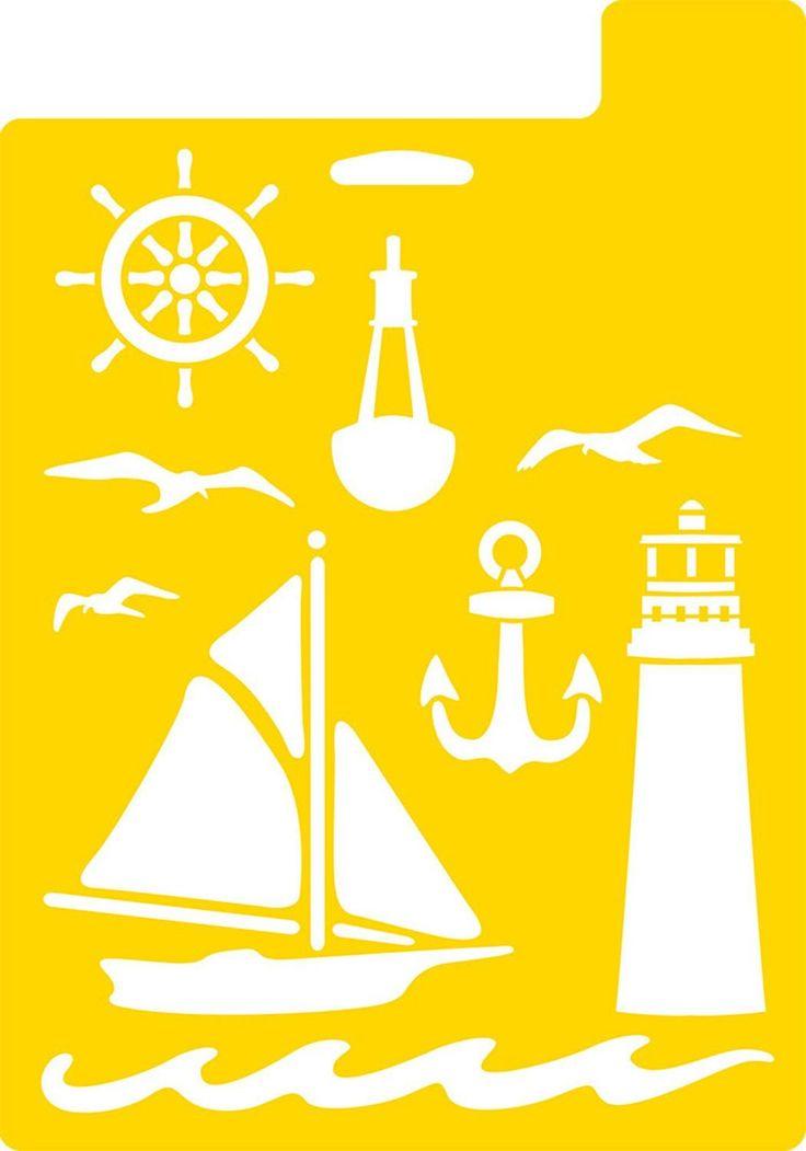 Amazon.com: Delta Creative Stencil, 7 by 10-Inch, 971690710 Nautical