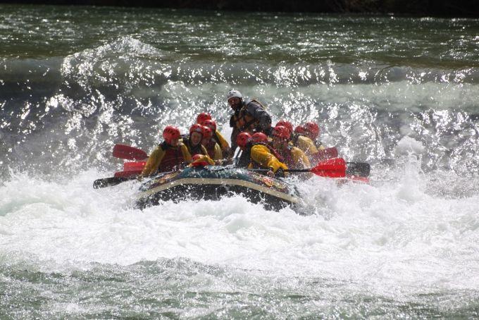 Rafting con i ragazzi dello Scientifico