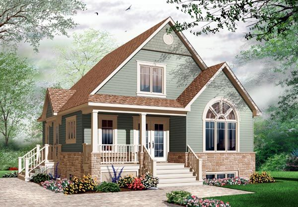 Country Craftsman House Plan 76214 Elevation