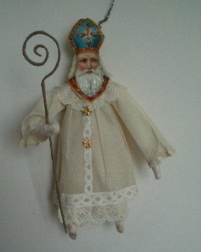 VTG Sankt Nikolaus Papier Abbildung Christbaumkugel | Ebay