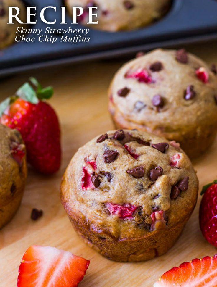 Market HQ Blog: RECIPE: Skinny Strawberry Choc Chip Muffins