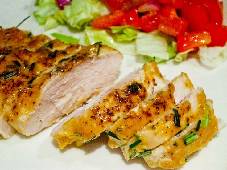 quick and easy: The world's best chicken 4 boneless, skinless chicken breasts 1/2 cup Dijon mustard 1/4 cup maple syrup 1 tablespoon red wine vinegar Salt &...