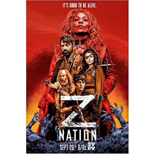 """Kellita Smith 8 Inch x 10 Inch PHOTOGRAPH Z Nation (TV Series 2014 - ) w/Cast Red Title Poster """"It's Good to be Alive"""" kn"""