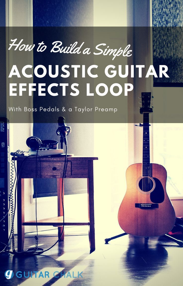 A Simple Acoustic Guitar Effects Loop Setup Guitar Chalk Guitar Guitar Effects Guitar Studio