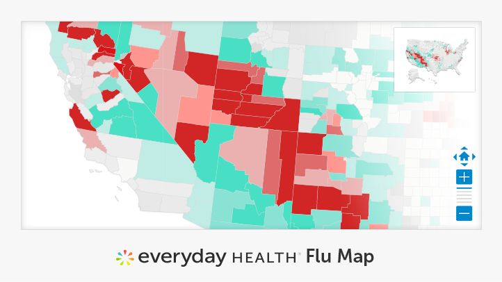 Everyday Health's Flu Map lets you track local flu trends. The tracker is updated constantly with local flu conditions across the United States.