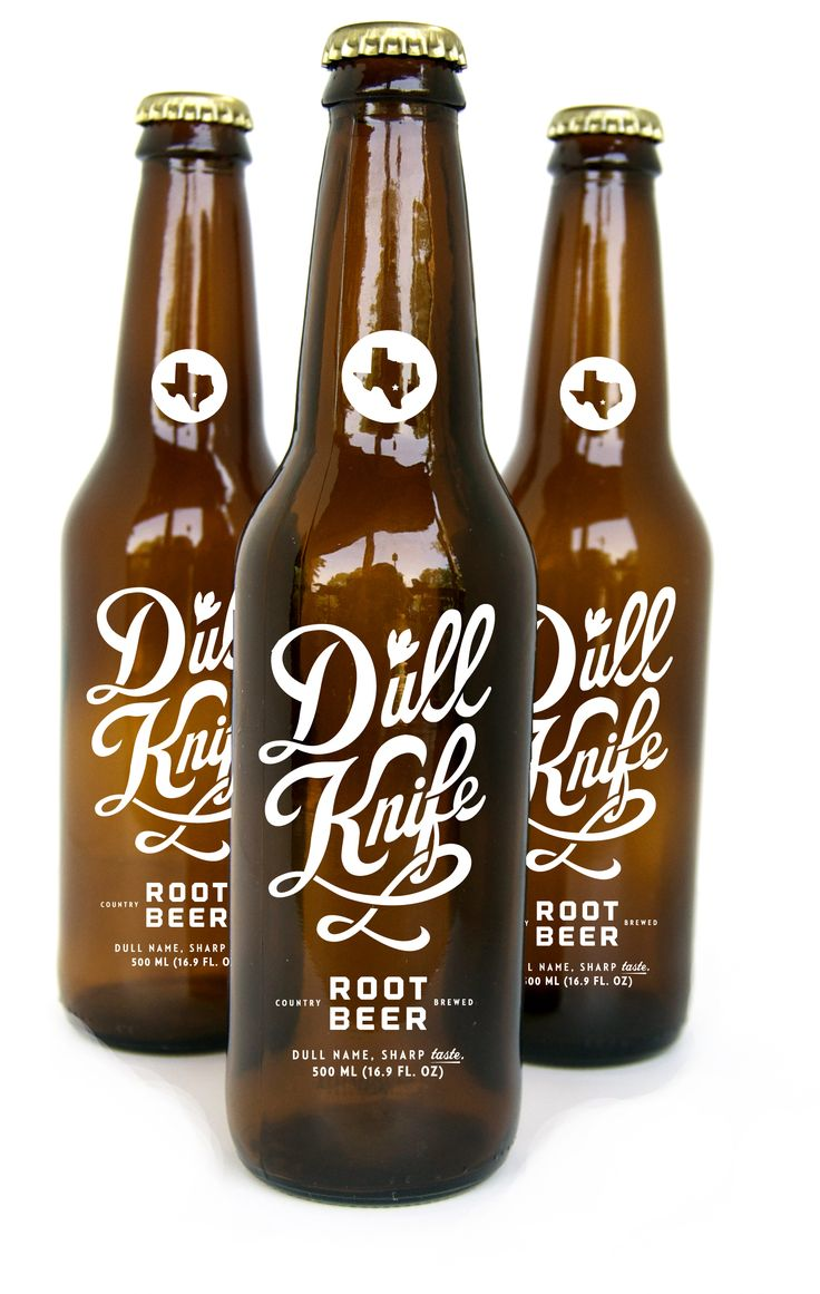 Dull Knife Root Beer #packaging: Knifes Roots, Roots Beer, Beer Packaging, Packaging Design, Bottle Packaging, Graphics Design, Dull Knifes, Beer Bottle, Knives