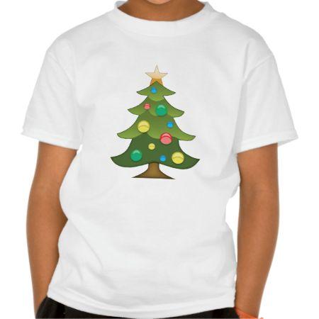 Christmas Tree Emoji T Shirts