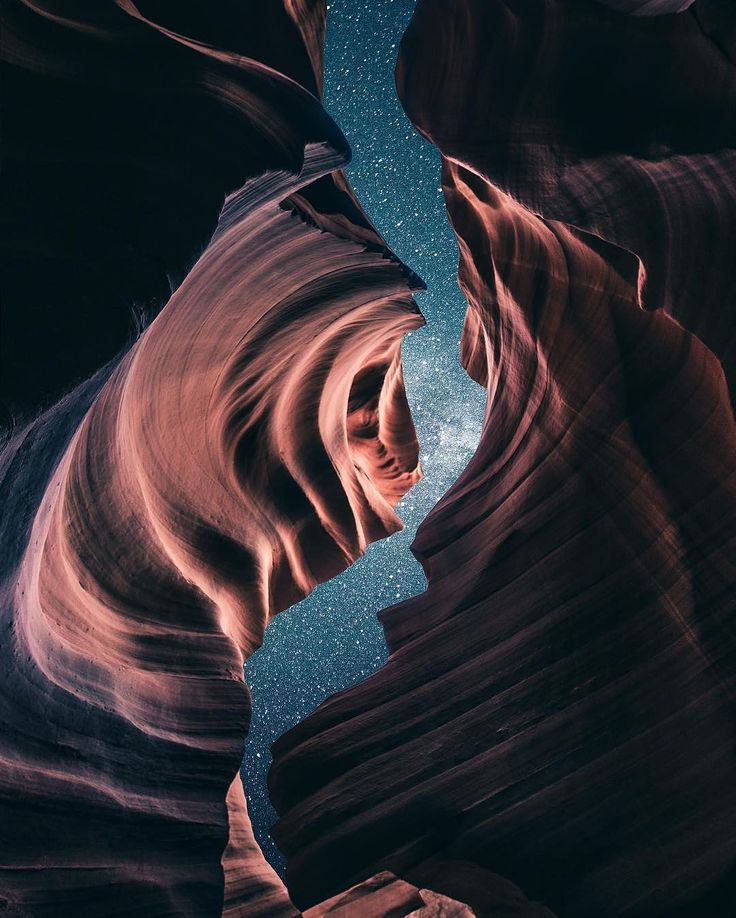 Antelope Canyon after dark                                                                                                                                                      More