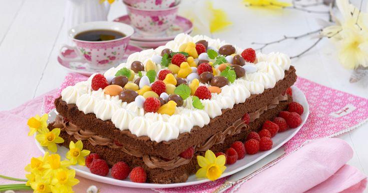 Påsktårta med hallon och choklad – recept | Året Runt