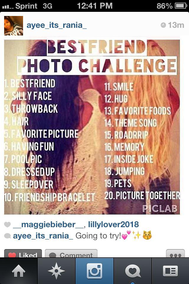 Best friend photo challenge.