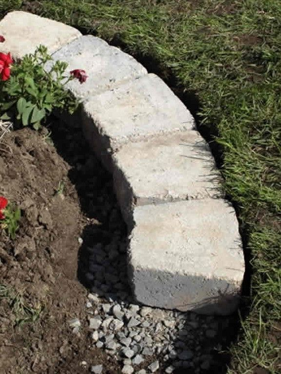 How To Install Stone Edging For Flower Beds С 400 x 300