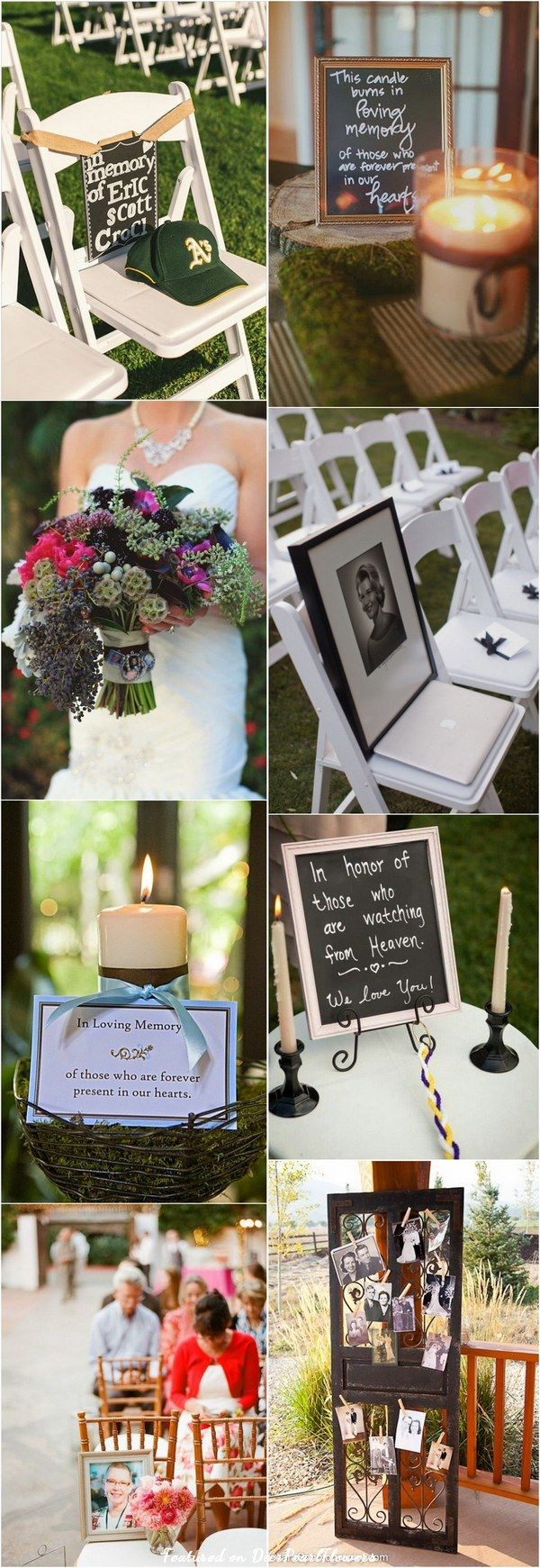 20 Unique Ways to Honor Deceased Loved Ones at Your Wedding / http://www.deerpearlflowers.com/ways-to-honor-deceased-loved-ones-at-your-wedding/