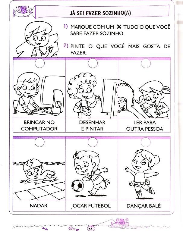 Atividades Educativas Para Educacao Infantil Letramento 5 E 6 Anos