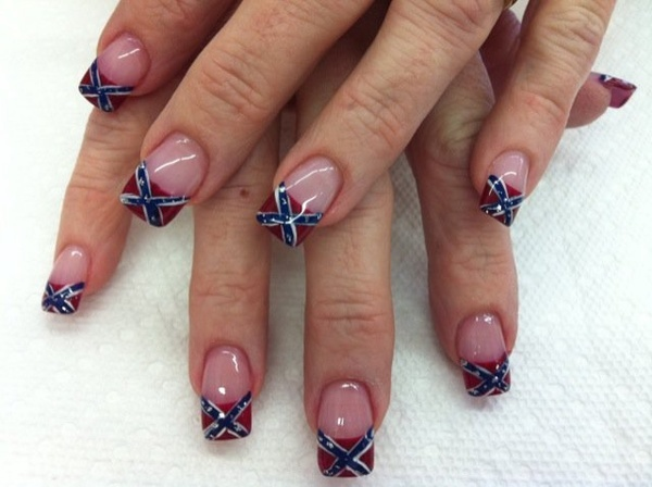 Had these loved them going again to get them <3. Rebel Flag ... - 22 Best Nails Images On Pinterest Country Nails, Camo Nails And