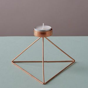 geo-fleur | notonthehighstreet.com | Geometric Triangle Candle Holder | Copper | Trend | Get The Look | Vintage Industrial Accessories | Warehouse Home Design Magazine
