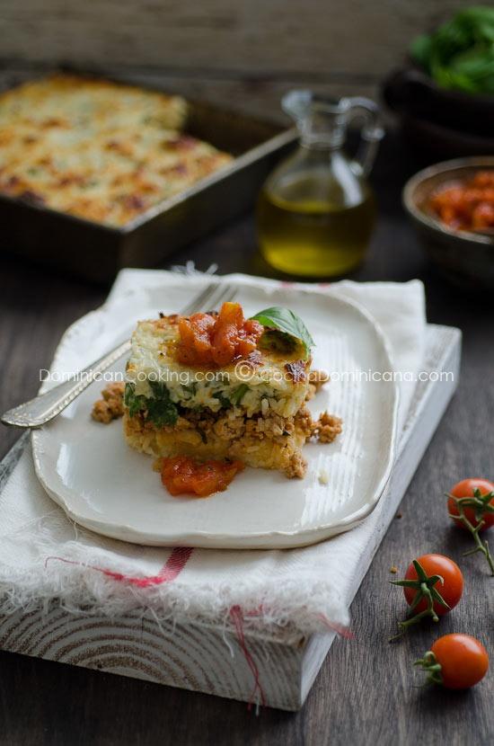 Pastelón de arroz (Rice casserole)