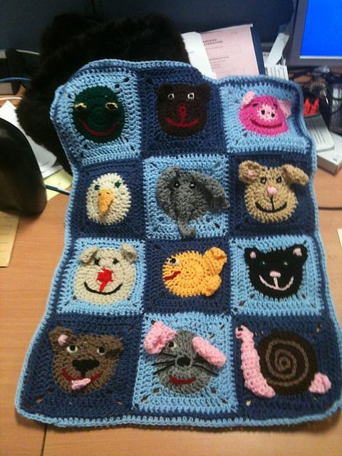 Ravelry Project Gallery For Funny Face Square Pattern By Carola