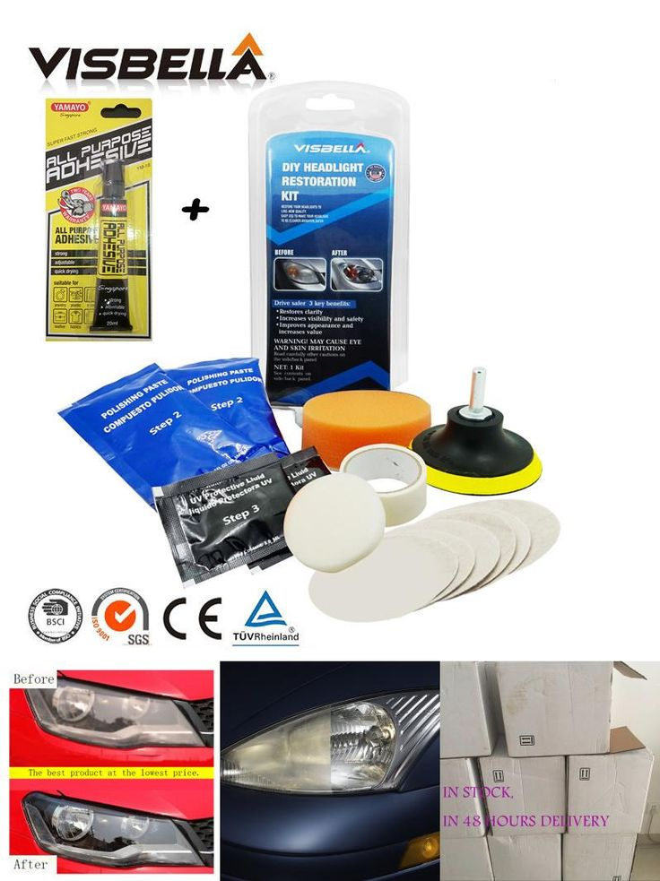 [Visit to Buy] Visbella fix foggy and cloudy headlight lamp lens cleaning for motocycle headlamp restoration DIY kit car head light polish #Advertisement