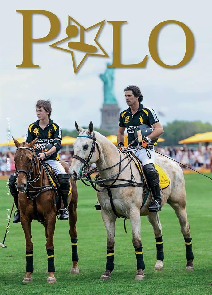 #Cover #Portada #Polo Revista Polo #51 Julio a Septiembre 2014. Los jugadores Hilario y Nacho Figueras compiten juntos en el Veuve Clicquot Polo Classic New York.  #NachoFigueras #poloplayer #statueofliberty