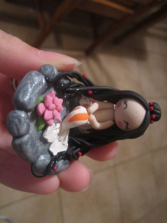 Made to Order Chibi Koi Mermaid in a Pond Clay by ThePunkPalace, $15.00