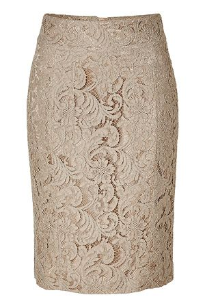 Burberry Nude Lace Skirt- i'm so into the lace this season...so feminine!