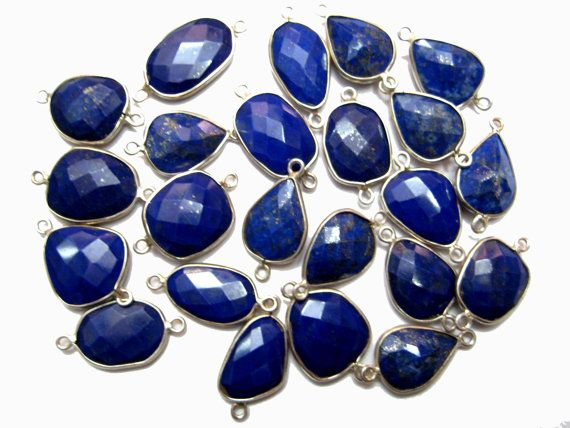 1 piece of 925 Sterling Silver Bezel Lapis Lazuli by finegemstone, $7.00