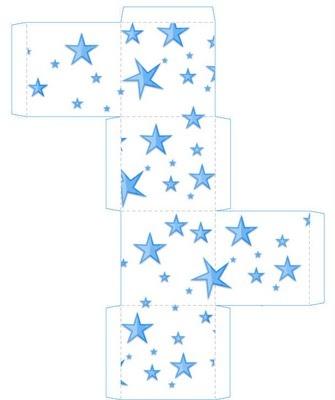 star gift box printable