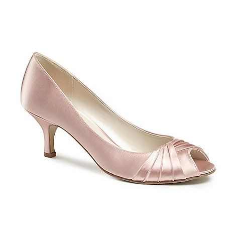 The luxurious satin 'Romantic' peep toe shoe, set off with intricate pleated detail. The perfect option for looking chic at any special occassion without sacrificing comfort.