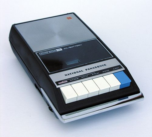 Cassette Recorder, I used to have one very similar to this in the 1970's. I'd tape TV shows to listen to later.