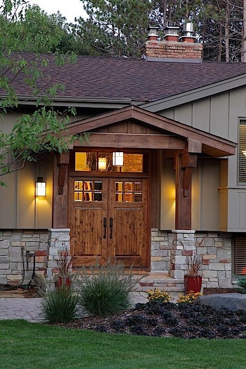 Split Foyer Front Entrance : Best ideas about split level exterior on pinterest