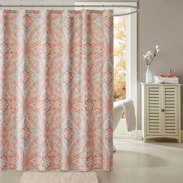 Top 25 best Coral shower curtains ideas on Pinterest Shower