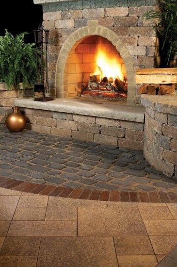727 best Outdoor fireplace pictures images on Pinterest