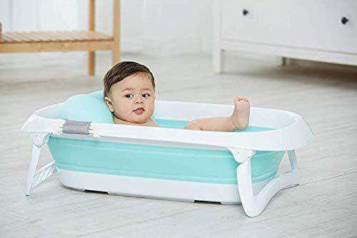 Jf Mall Folding Portable Baby Bathtub Blue Amazon Com With
