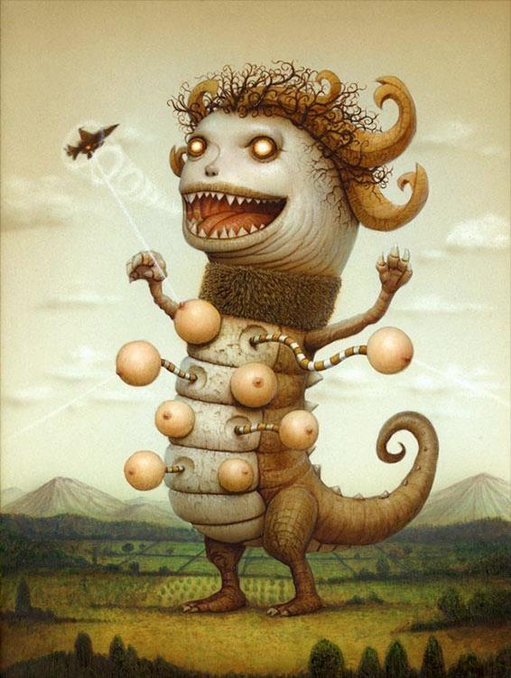 Pop Surrealism by Japanese-born but New York-based, Naoto Hattori. www.wwwcomcom.com/