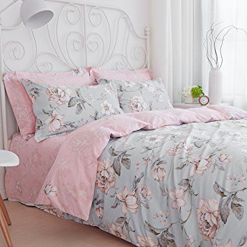 sisbay french rural floral print bed set king for american country duvet cover