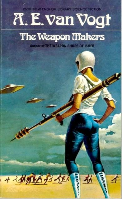 Classic Book Cover Generator ~ Bruce pennington art for the weapon maker by a e van
