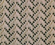 Stunning lace triangles stitch pattern! This chart uses Russian knitting symbols, here is a guide that can help you decipher it: Russian to English knit chart translation