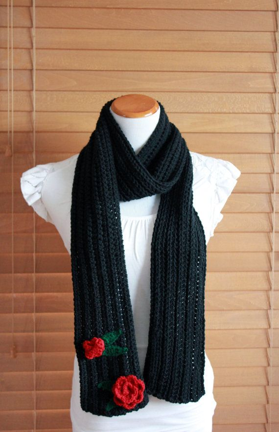 Sailor Moon Tuxedo Mask inspired rose scarf https://www.etsy.com/listing/179617281/sailor-moon-tuxedo-mask-inspired-crochet