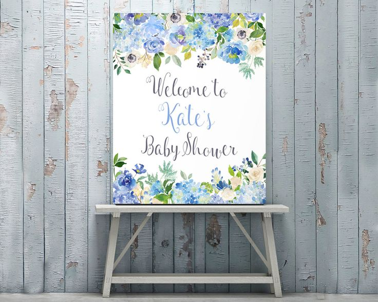 Baby Shower Decorations, Customized, Baby Shower Sign, Personalized, Welcome Sign, Baby Shower Printables, Poster, Banner, Custom Sign by AdornMyWall on Etsy
