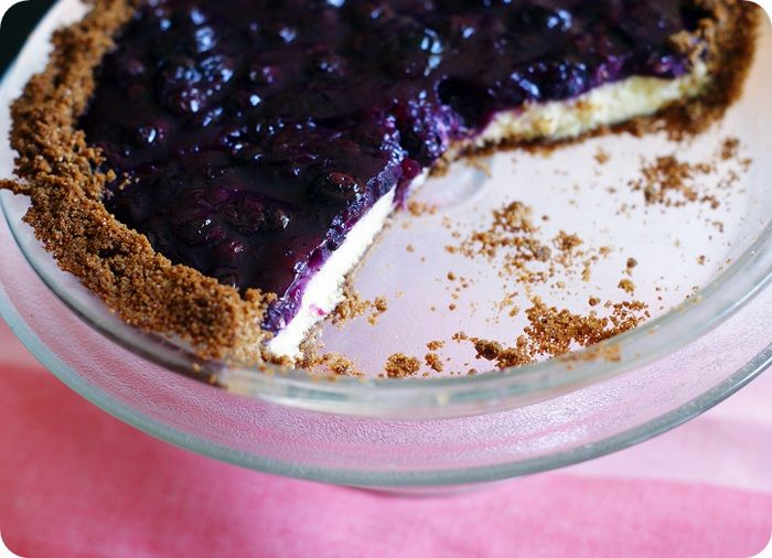 Desserts for Dudes: Blueberry Cheesecake Pie