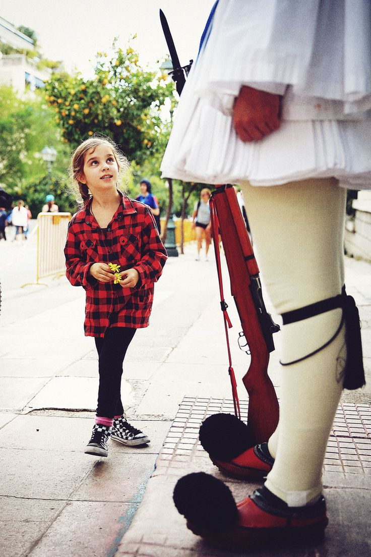 Little Girl & Tsolias in Athens