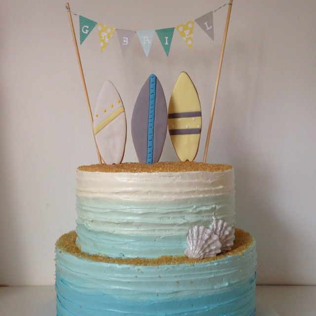 """#bolo surf #surf cake"" Photo taken by @tammymontagna on Instagram, pinned via the InstaPin iOS App! http://www.instapinapp.com (01/30/2015)"