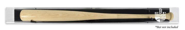 Boston Red Sox 2007 World Series Champs Backwards Baseball Bat Logo Display Case