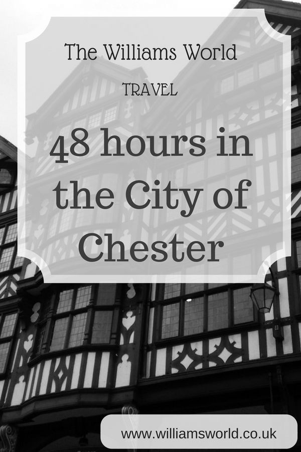 I was recently given the challenge by Superbreak of exploring a city in 48 hours, and I had no hesitation in choosing the historic city of Chester. We live 25 minutes away from this beautiful city, but there is so much that Chester has to offer that we have never experienced. Chester is a city full of variety, from ancient walls to modern and vibrant restaurants. So what did we get up to during our 48 hours.
