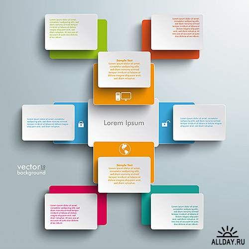 Инфографика для бизнеса 2, интернет - Векторный клипарт