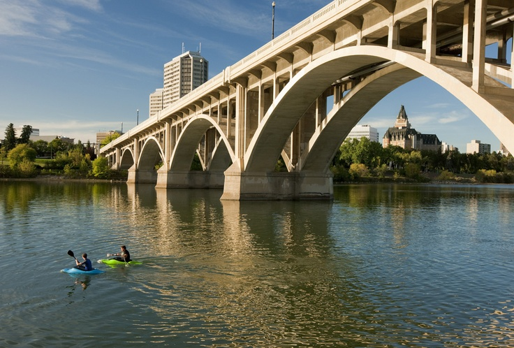 Under the Broadway Bridge / South Saskatchewan River