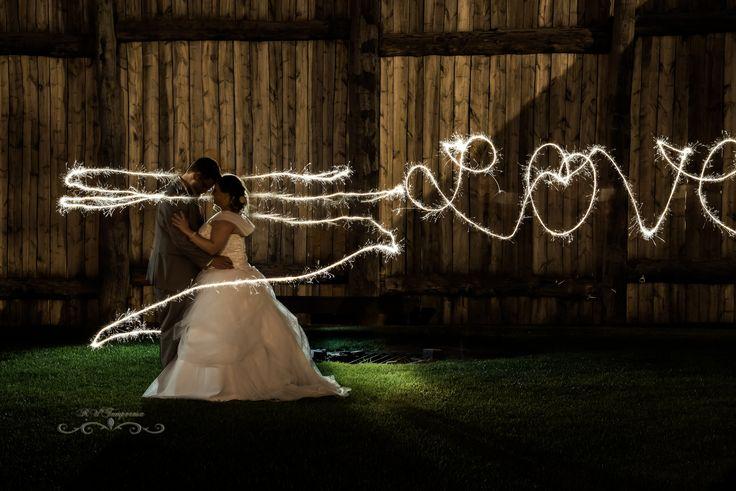 Rustic wedding at Fort Gibraltar, Winnipeg. Night shot by Rollan Temperosa